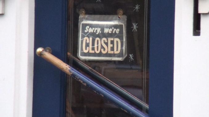 Coffeeshop gesloten