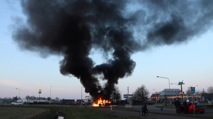 Brand bij Knooppunt Joure