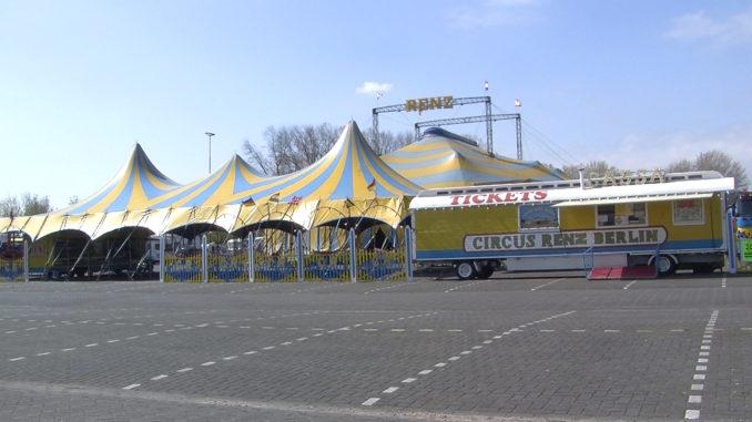 Circus Renz Berlin slaat tenten op in Leeuwarden